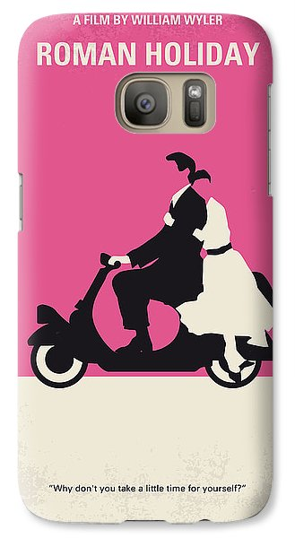 No205 My Roman Holiday Minimal Movie Poster Galaxy Case by Chungkong Art