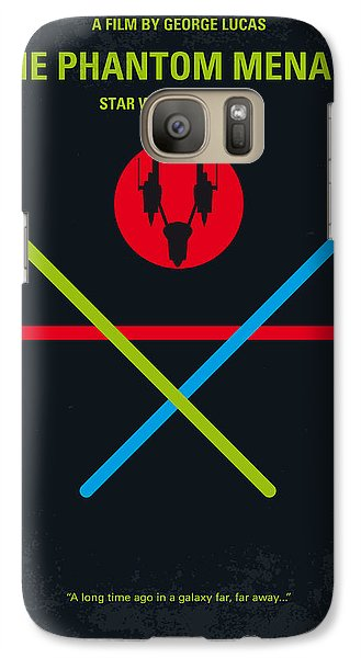 Falcon Galaxy S7 Case - No223 My Star Wars Episode I The Phantom Menace Minimal Movie Poster by Chungkong Art