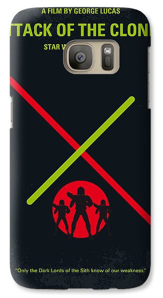 Falcon Galaxy S7 Case - No224 My Star Wars Episode II Attack Of The Clones Minimal Movie Poster by Chungkong Art
