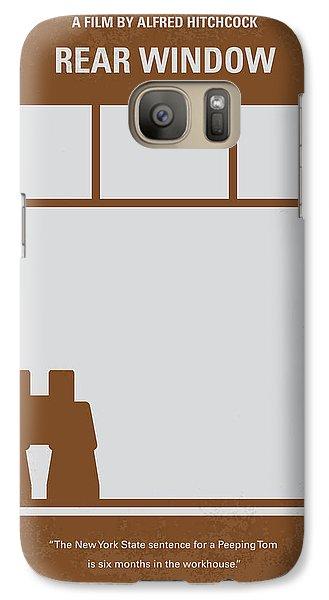No238 My Rear Window Minimal Movie Poster Galaxy Case by Chungkong Art