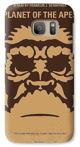 Ape Galaxy S7 Case - No270 My Planet Of The Apes Minimal Movie Poster by Chungkong Art