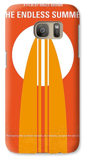 Orange Galaxy S7 Case - No274 My The Endless Summer Minimal Movie Poster by Chungkong Art