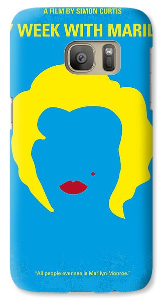 No284 My Week With Marilyn Minimal Movie Poster Galaxy S7 Case by Chungkong Art