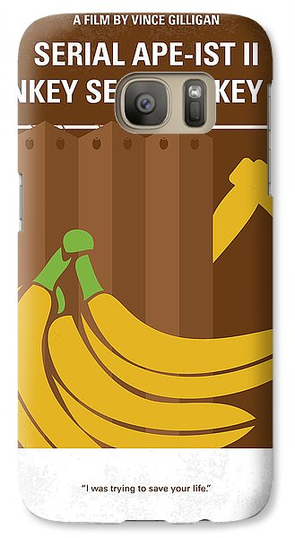 Gorilla Galaxy S7 Case - No356 My Serial Ape-ist Minimal Movie Poster by Chungkong Art