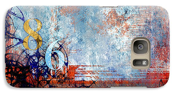 Galaxy Case featuring the digital art No.86 by Rebecca Davis