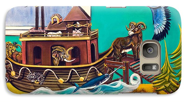 Galaxy Case featuring the painting Noah's Ark Second Voyage by Susan Culver