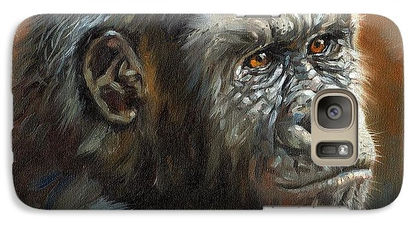 Gorilla Galaxy S7 Case - Noble Ape by David Stribbling