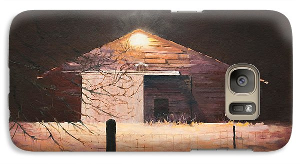 Galaxy Case featuring the painting Nocturnal Barn by Rebecca Matthews