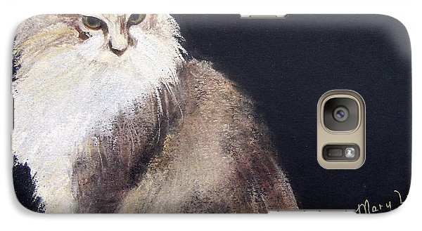 Galaxy Case featuring the drawing Nonny by Mary Lynne Powers