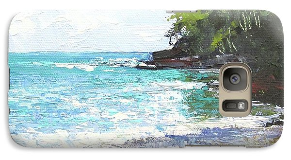 Galaxy Case featuring the painting Noosa Heads Main Beach Queensland Australia by Chris Hobel