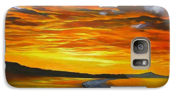 Galaxy Case featuring the painting Noosa Sunset by Chris Hobel