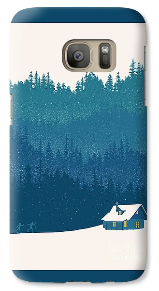 Niagra Falls Galaxy S7 Case - Nordic Ski Scene by Sassan Filsoof