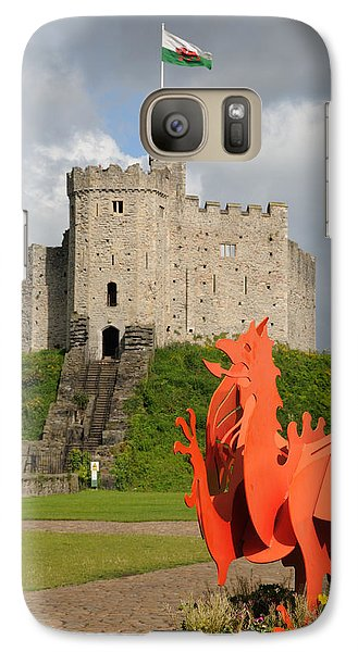Galaxy Case featuring the photograph Norman Keep Cardiff Castle by Jeremy Voisey