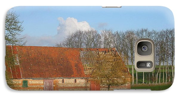 Galaxy Case featuring the photograph Normandy Storm Damaged Barn by HEVi FineArt