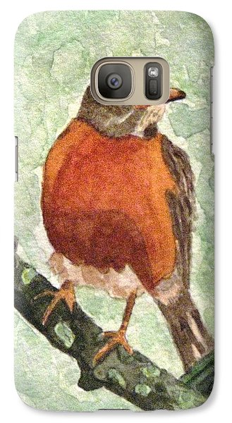 Galaxy Case featuring the painting North American Robin by Angela Davies