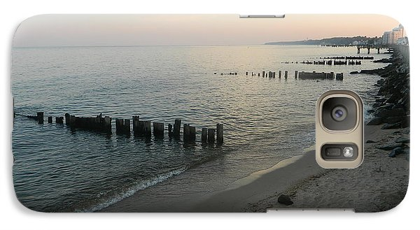 Galaxy Case featuring the photograph North Beach Sunset by Emmy Marie Vickers