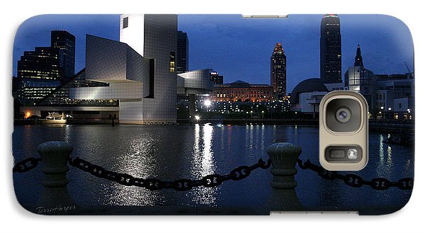 Galaxy Case featuring the photograph North Coast Harbor On A Stormy Night by Terri Harper