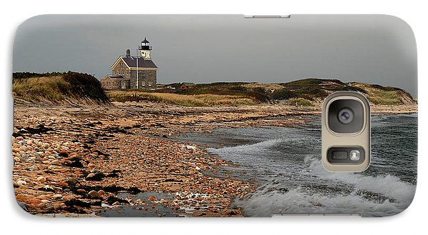 Galaxy Case featuring the photograph North Light Block Island by Nancy De Flon