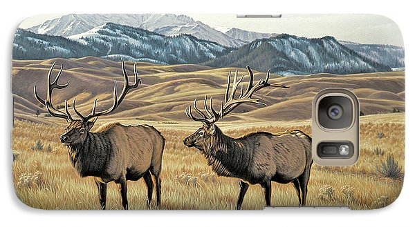 Bull Galaxy S7 Case - North Of Yellowstone by Paul Krapf
