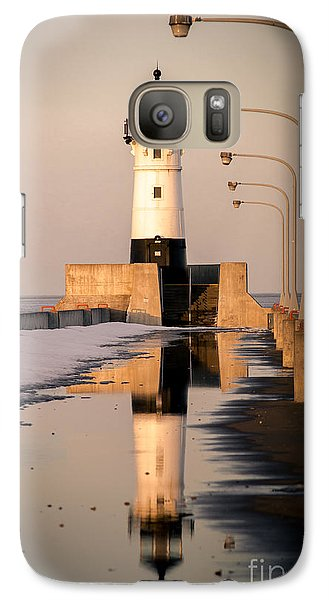 Galaxy Case featuring the photograph North Pier Sunset Melt by Mark David Zahn
