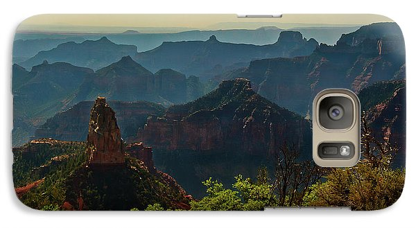 Galaxy Case featuring the photograph North Rim Grand Canyon Imperial Point by Bob and Nadine Johnston