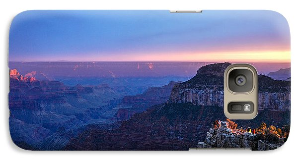 Galaxy Case featuring the photograph North Rim Sunset by Cheryl McClure