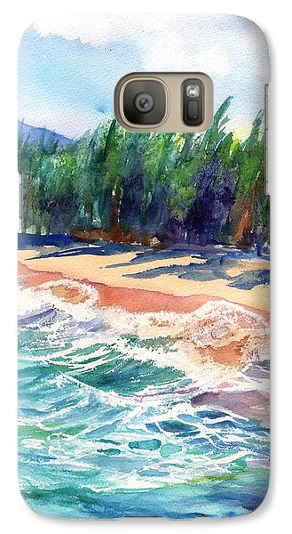 Galaxy Case featuring the painting North Shore Beach 2 by Marionette Taboniar