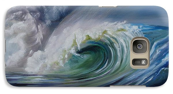 Galaxy Case featuring the painting North Shore Curl by Donna Tuten