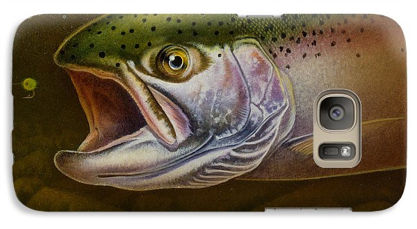 Galaxy Case featuring the painting North Shore Steelhead by Jon Q Wright