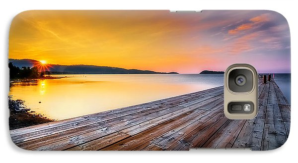 Galaxy Case featuring the photograph North Shore Sunrise Grand Portage Mn by RC Pics