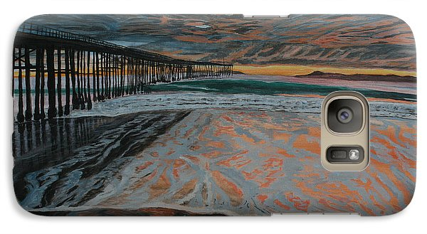 Galaxy Case featuring the painting North Side Of The Ventura Pier by Ian Donley