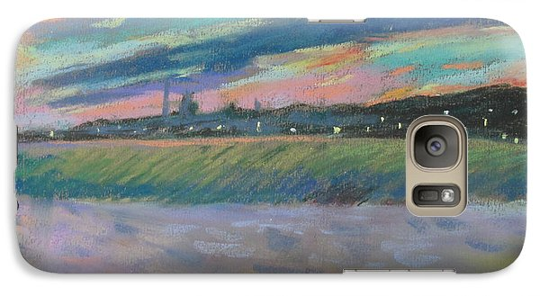 Galaxy Case featuring the painting North Truro Sunset by Linda Novick