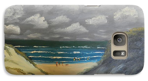Galaxy Case featuring the painting North Windang Beach by Pamela  Meredith