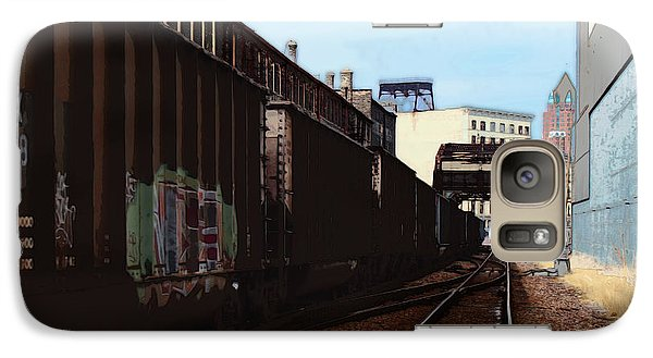 Galaxy Case featuring the digital art Northbound Freight To Milwaukee by David Blank