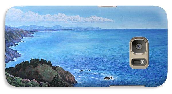 Galaxy Case featuring the painting Northern California Coastline by Penny Birch-Williams
