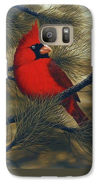Northern Cardinal Galaxy S7 Case by Rick Bainbridge
