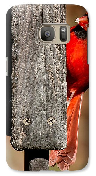 Galaxy Case featuring the photograph Northern Cardinal by Robert L Jackson
