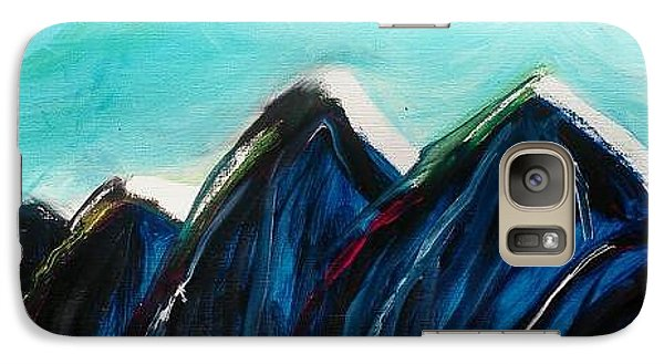 Galaxy Case featuring the painting Northern Face by Carol Duarte