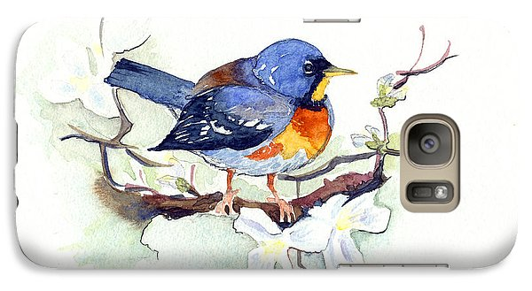 Galaxy Case featuring the painting Northern Parula by Katherine Miller
