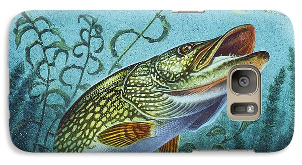 Galaxy Case featuring the painting Northern Pike Spinner Bait by Jon Q Wright