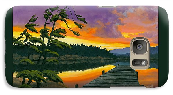 Galaxy Case featuring the painting After Glow - Oil / Canvas by Michael Swanson