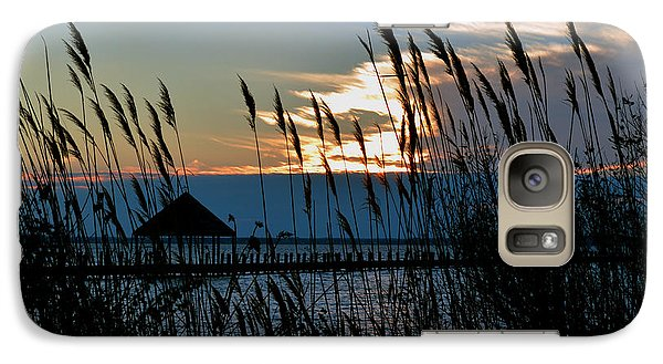 Galaxy Case featuring the photograph Ocean City Sunset At Northside Park by Bill Swartwout