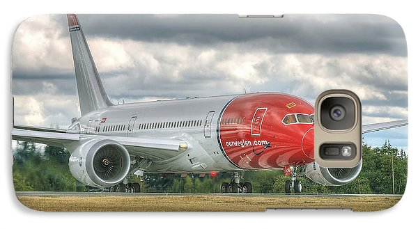 Galaxy Case featuring the photograph Norwegian 787 by Jeff Cook