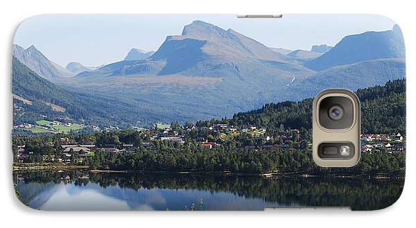 Galaxy Case featuring the photograph Norwegian Mountain Lake by Ankya Klay