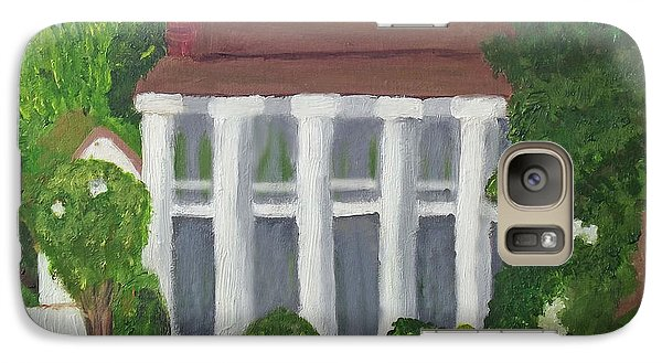 Galaxy Case featuring the painting Norwood Plantation Home by Margaret Harmon