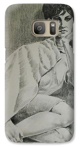 Galaxy Case featuring the painting Nostalgic Beauty by Al Brown