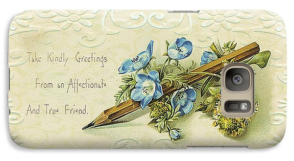 Galaxy Case featuring the digital art Nostalgic Greeting Card by Sandra Foster