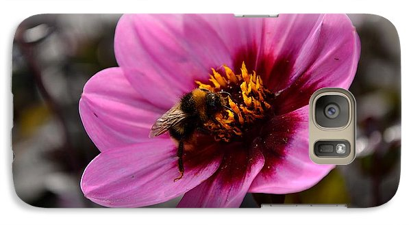Galaxy Case featuring the photograph Nosy Bumble Bee by Scott Lyons