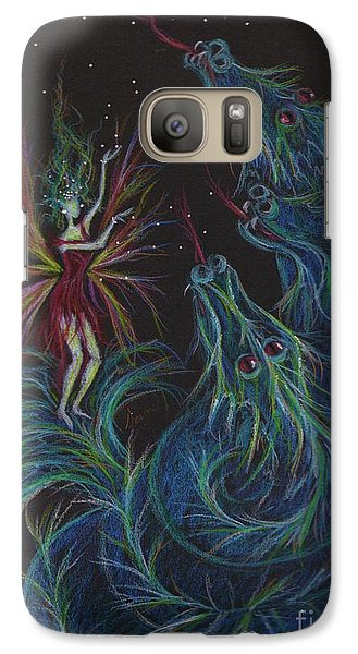 Galaxy Case featuring the drawing Notes Are For Singing Not Eating by Dawn Fairies