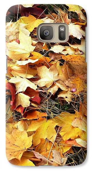 Galaxy Case featuring the photograph Nothing But Leaves by Mike Ste Marie